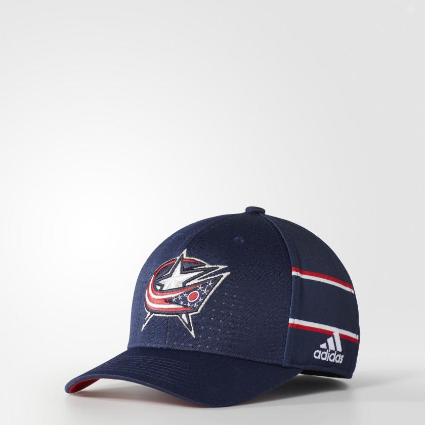 Blue Jackets Structured Flex Draft Hat