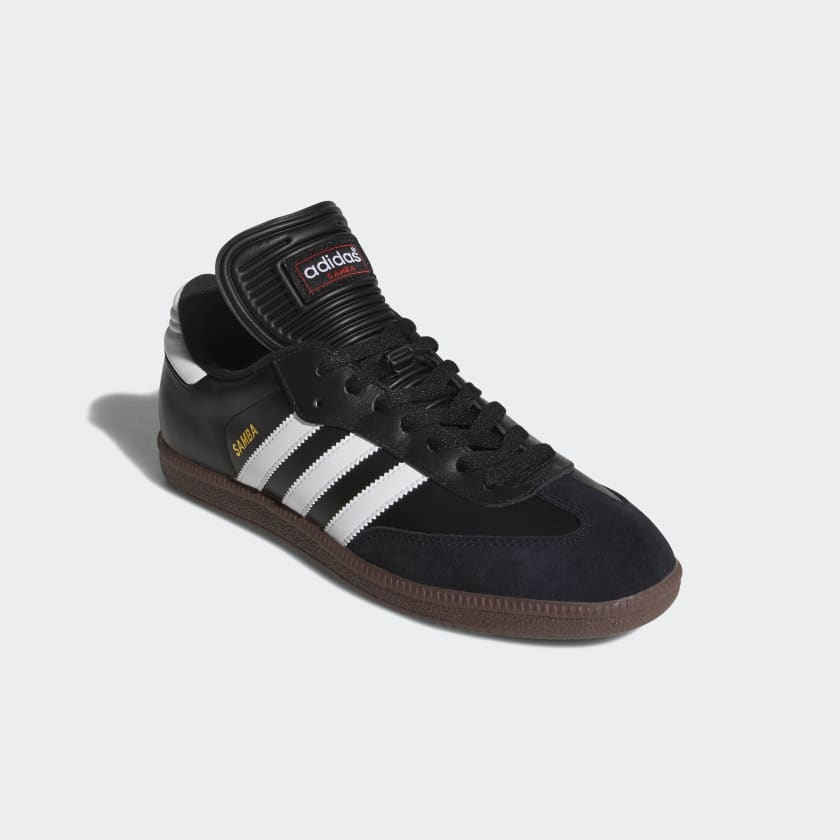 The Samba has dominated indoor soccer for decades for a reason These legendary shoes feature a leather upper and a lightweight EVA midsole for better