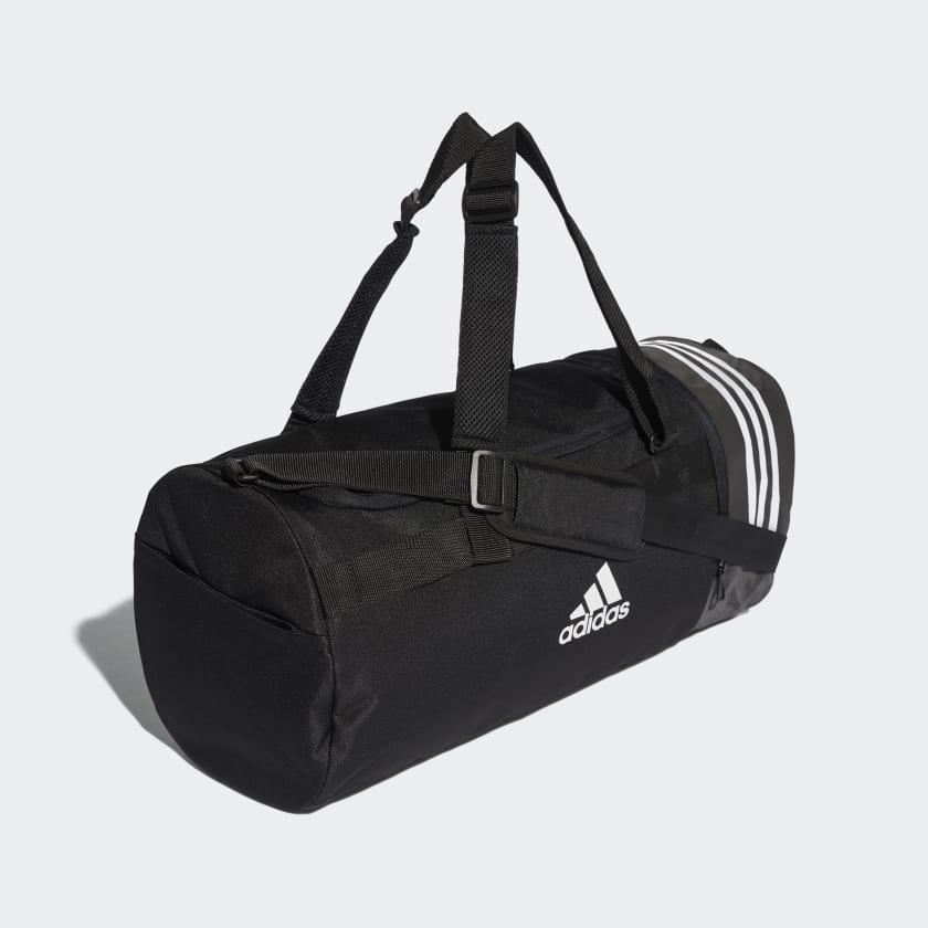 Convertible 3-Streifen Duffelbag M