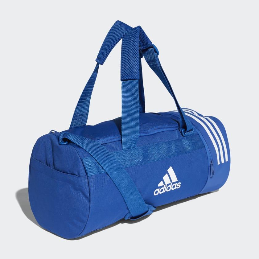 Convertible 3-Stripes Duffel Bag Small