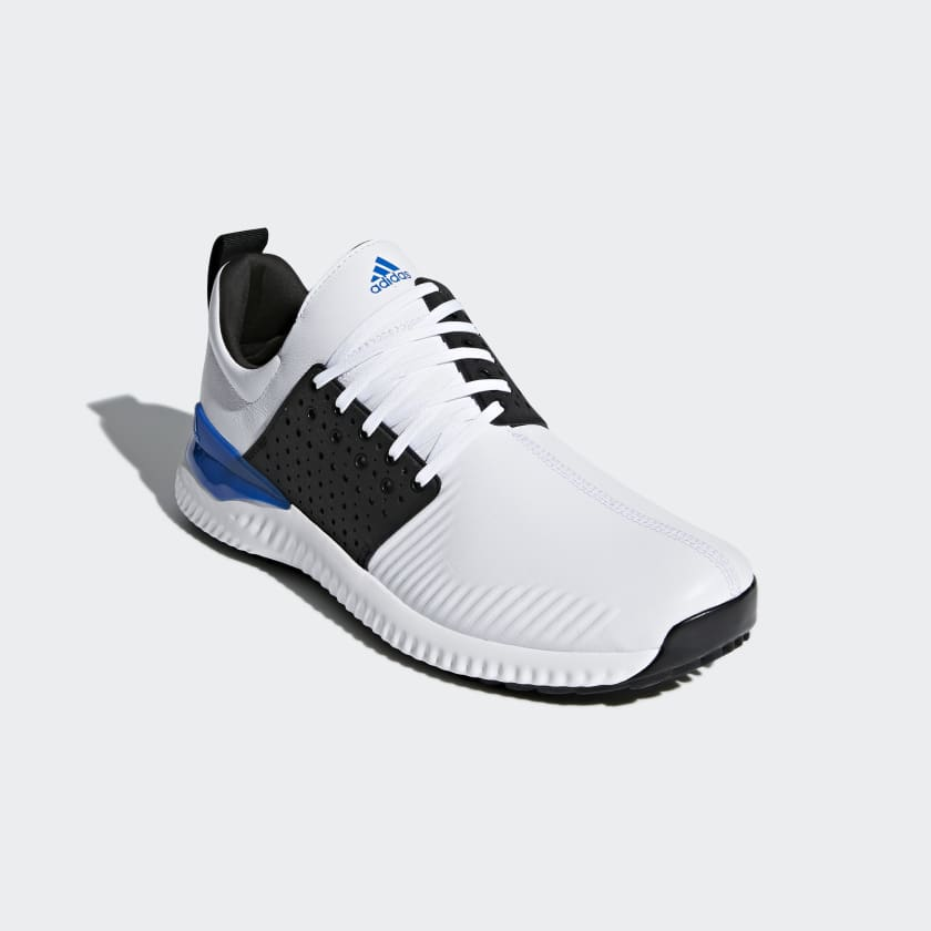 adidas Golf ADICROSS BOUNCE - Golf shoes - white/core black/blue