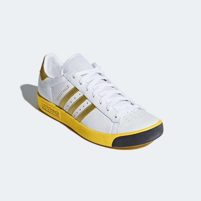 CQ2083 Adidas Men Forest Hills white gold metallic eqt yellow
