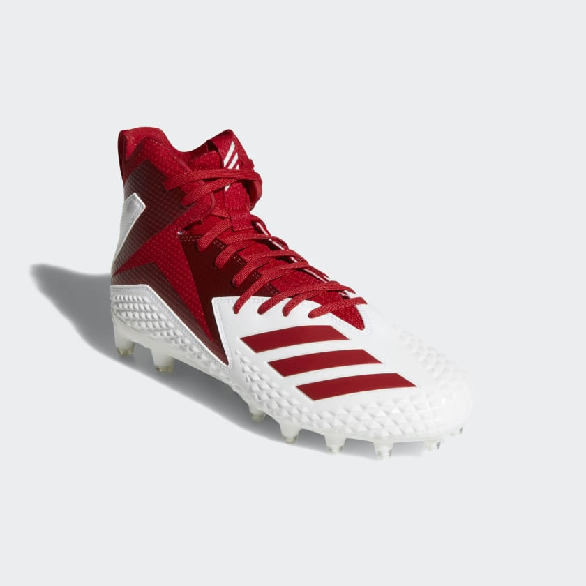 adidas Freak X Carbon Mid - Men's Football Shoes - White/Power Red/Power Red DB0144