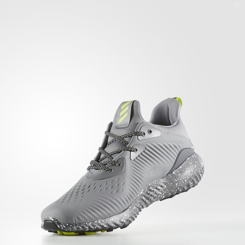 New Exclusive High-end Adidas Running Shoes Men Mesh Grey White Resistance S47p5420