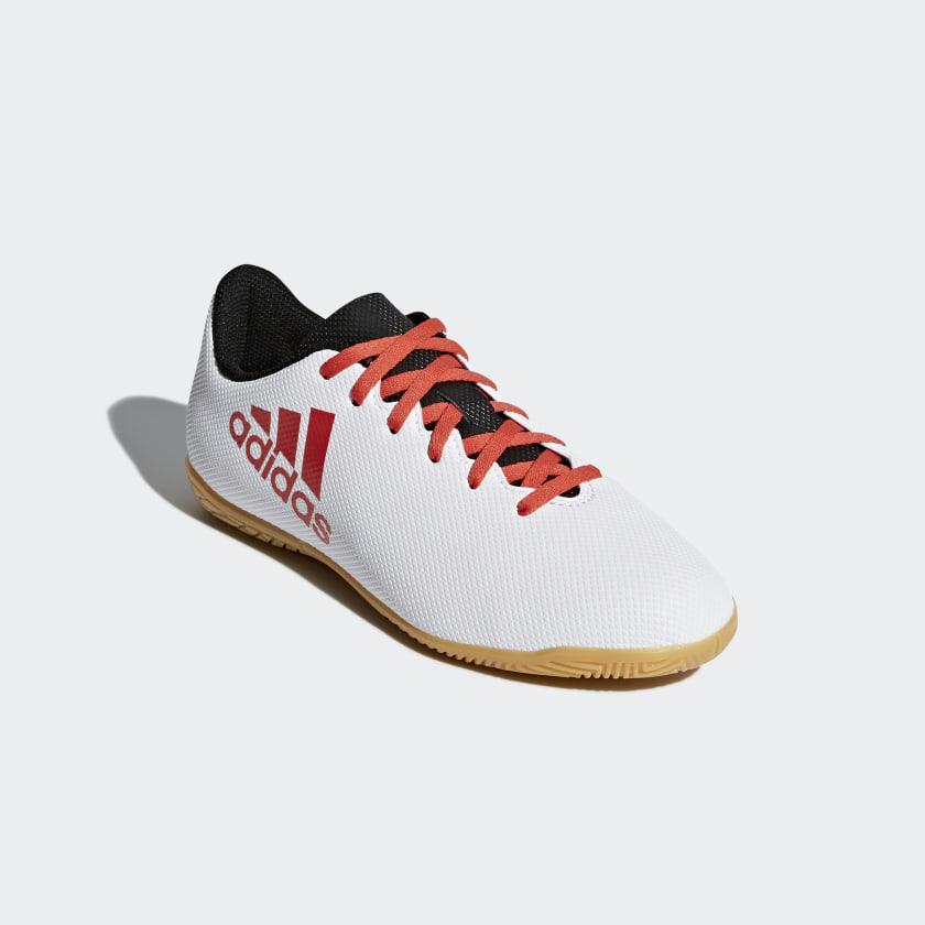 Chuteira X 17.4 Futsal Infantil - Cinza adidas  4f7982ed482f3