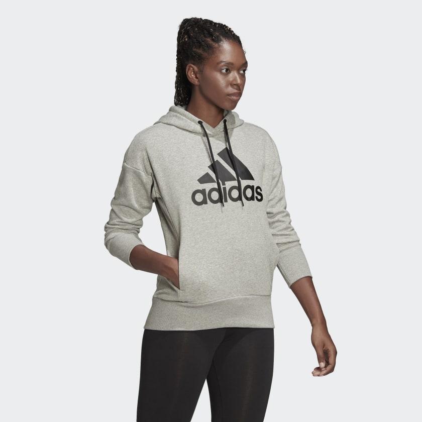 adidas-Badge-of-Sport-Long-Hoodie-Women-039-s thumbnail 24