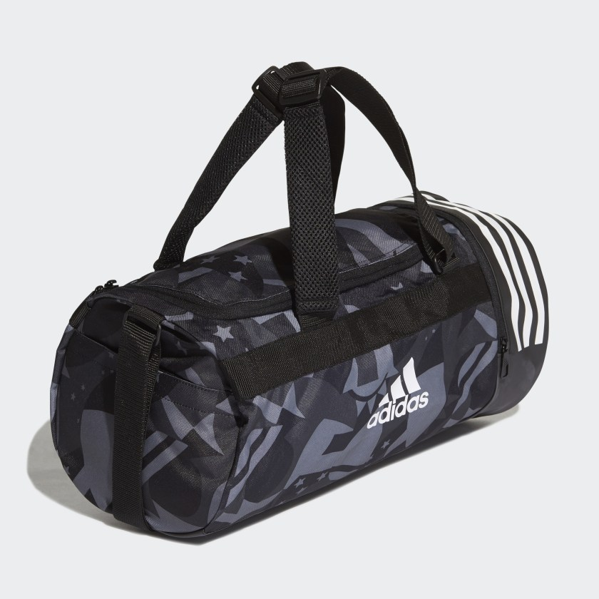 3-Stripes Convertible Graphic Duffel Bag Small