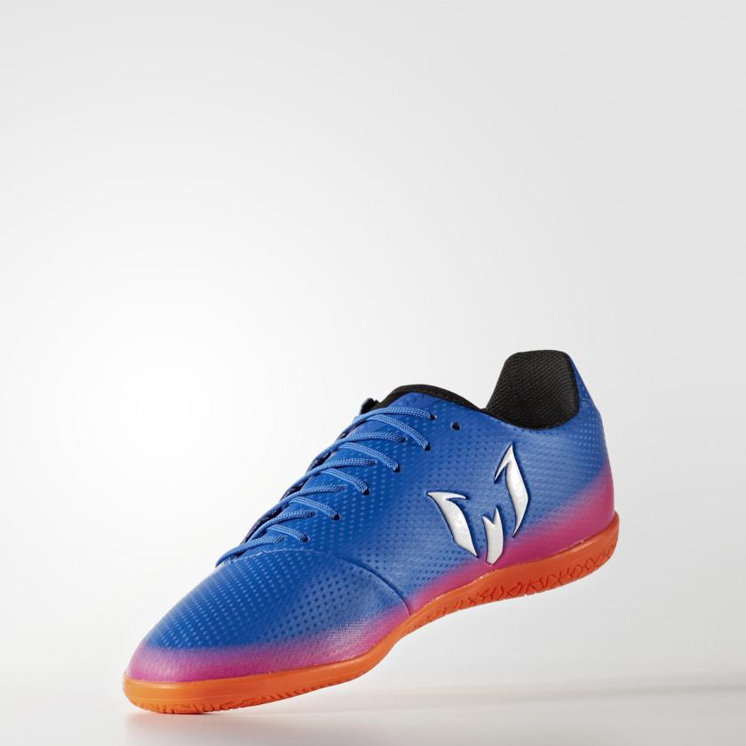 b8eafb6c23 402ac  wide range Chuteira Infantil Messi 16.3 - Futsal - Azul adidas adidas  Brasil 1e633 a60e2 ...