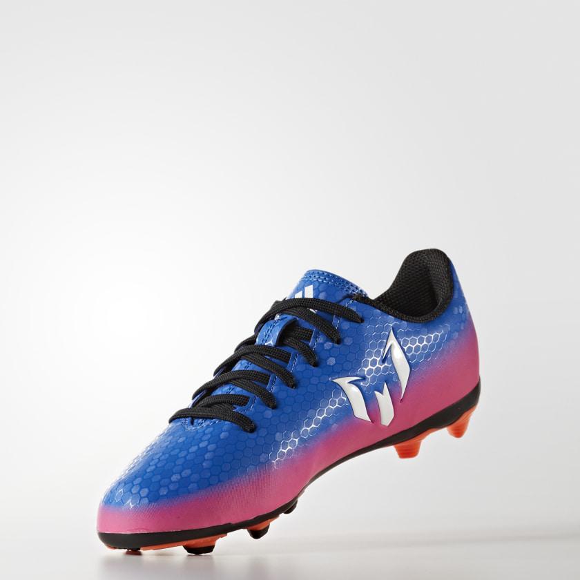 Chuteira Infantil Messi 16.4 - Campo - Azul adidas  6d73787c282bf