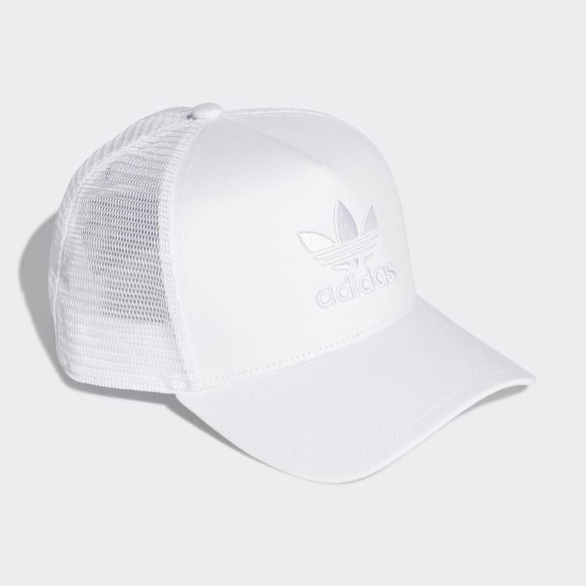 adidas Trefoil Trucker Cap - White  97f233ddaf3