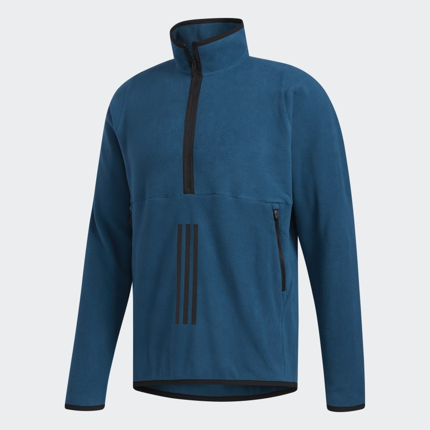 adidas-FreeLift-3-Stripes-Polarfleece-Sweatshirt-Men-039-s thumbnail 18
