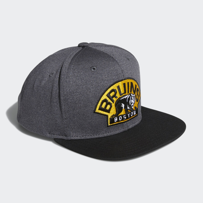 Bruins Snapback Heathered Grey Hat
