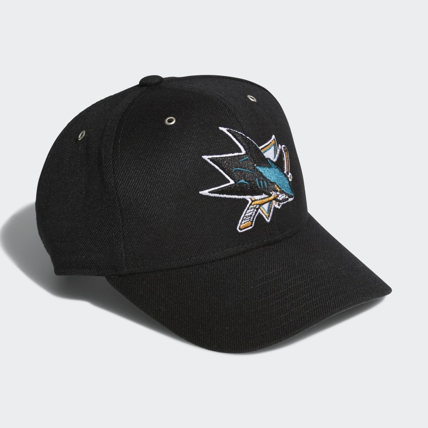 Sharks Adjustable Leather Strap Hat