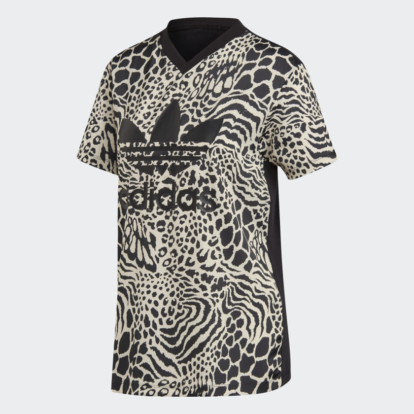 adidas-Allover-Print-Tee-Women-039-s thumbnail 15