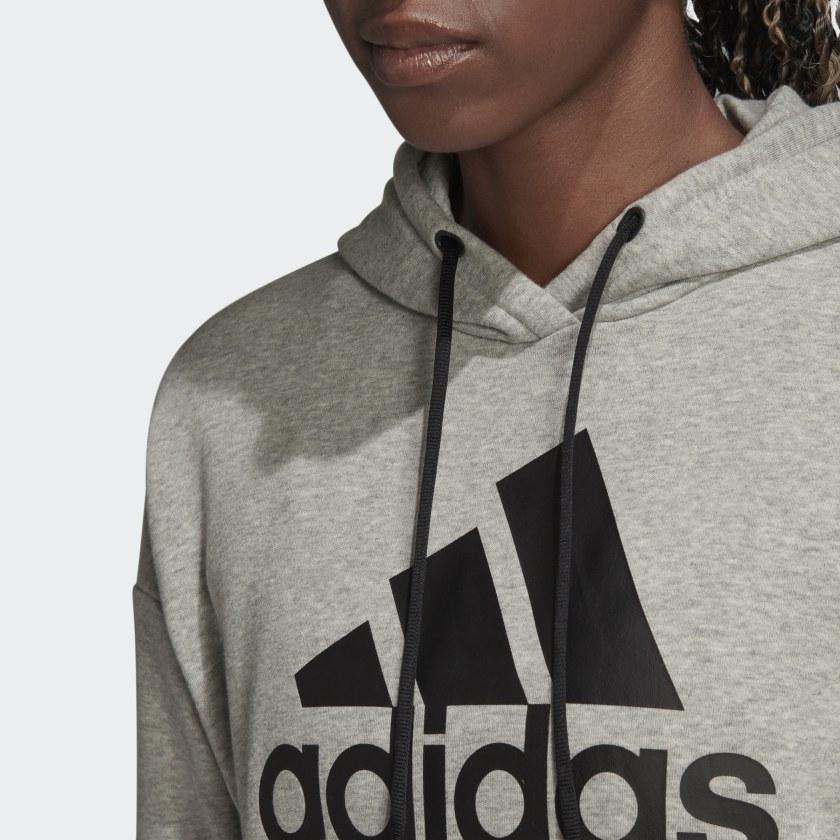 adidas-Badge-of-Sport-Long-Hoodie-Women-039-s thumbnail 28
