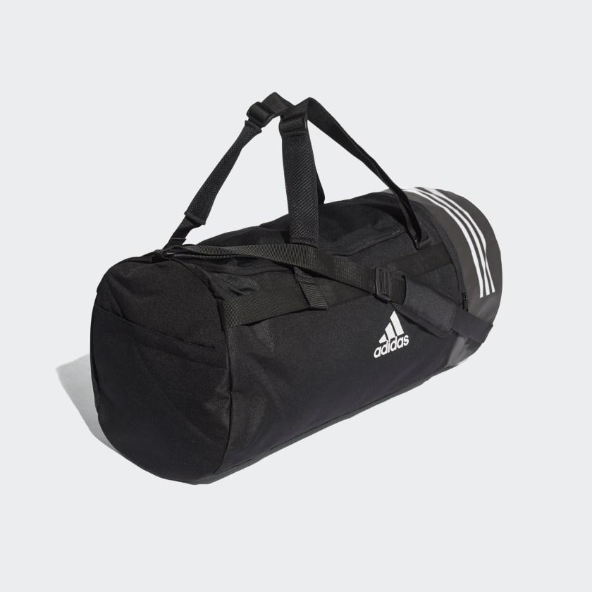 Convertible 3-Stripes Duffel Bag Large