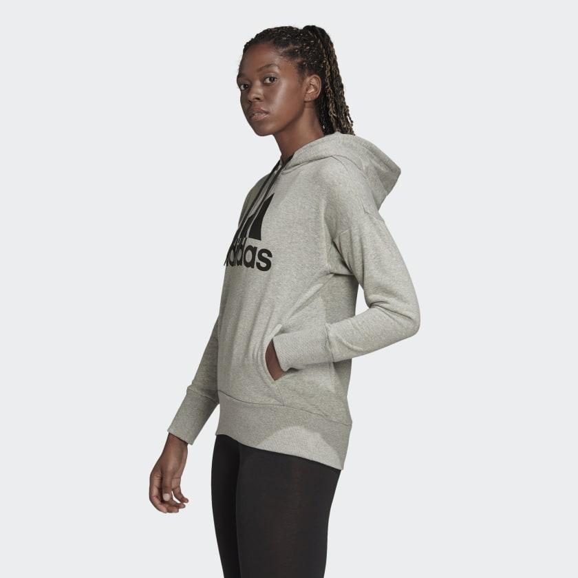 adidas-Badge-of-Sport-Long-Hoodie-Women-039-s thumbnail 29