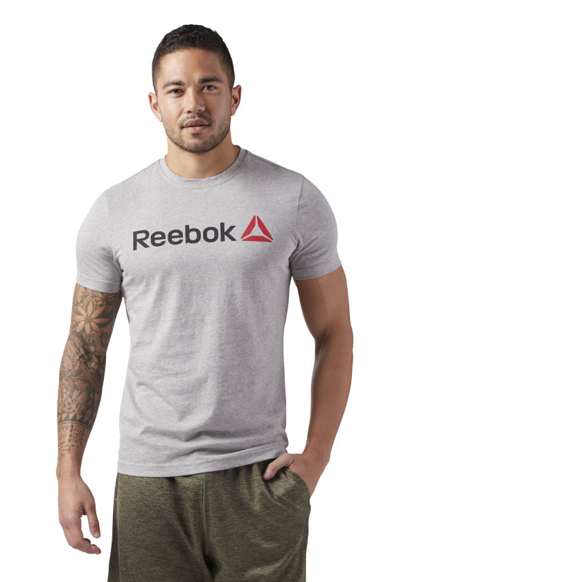 Reebok-Men-039-s-Linear-Read-Tee thumbnail 6