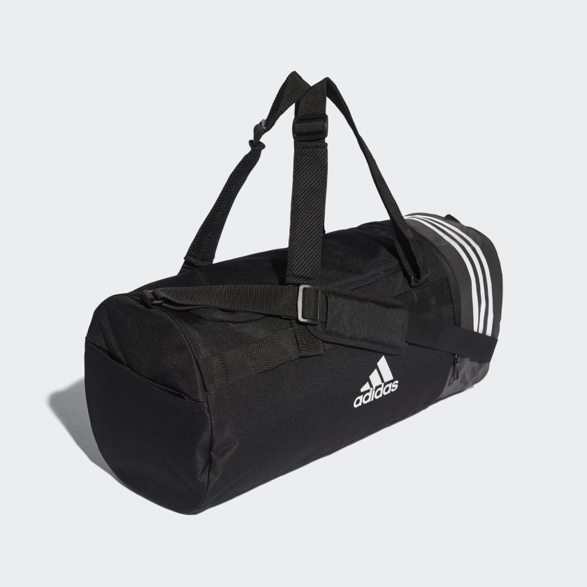 adidas Convertible 3-Stripes Duffel Bag Medium - Black   adidas Canada f94905a91a
