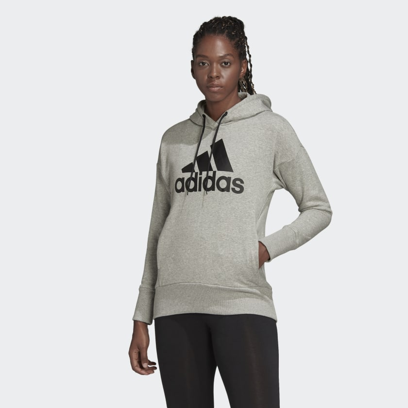 adidas-Badge-of-Sport-Long-Hoodie-Women-039-s thumbnail 30