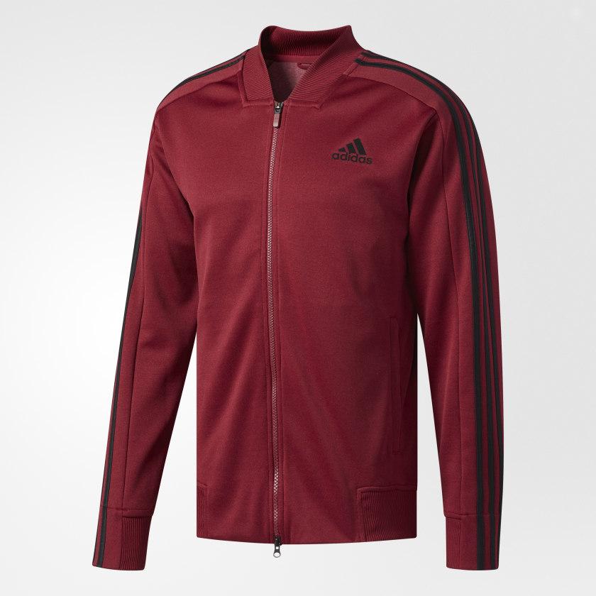 Adidas Men/'s Full Zip Up Squad ID Track Jacket Black//White CV3253 Size S