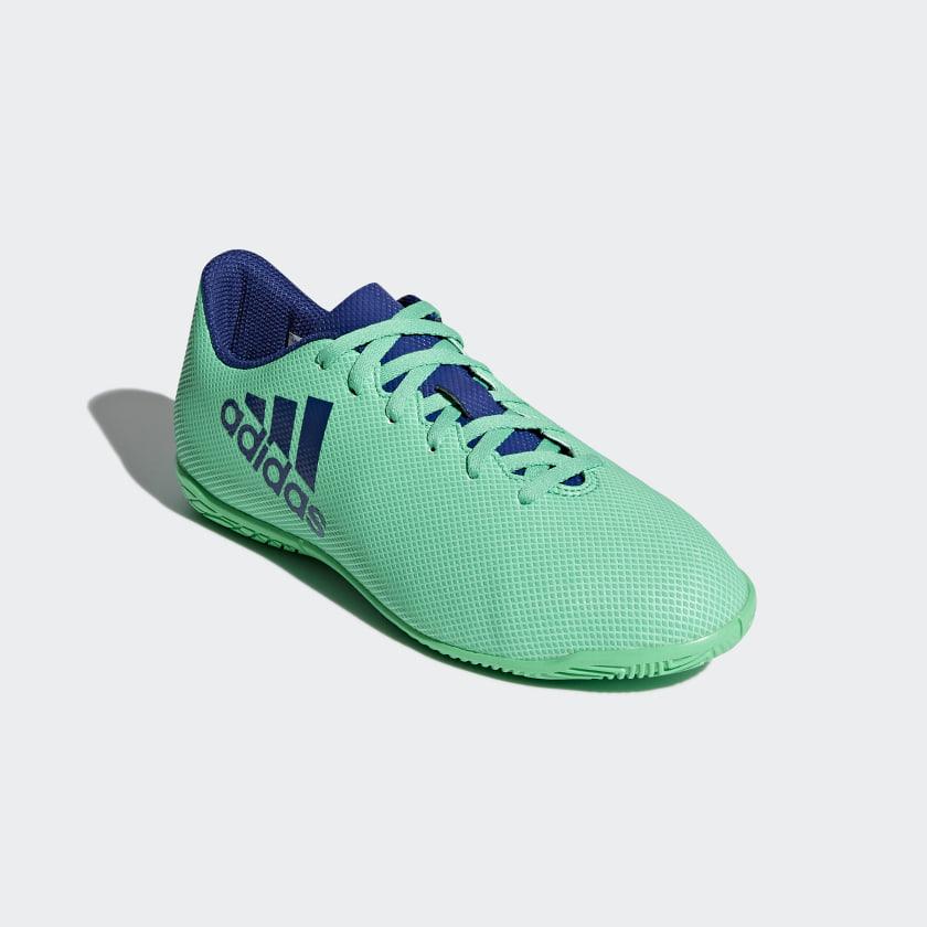 Chuteira X 17.4 Futsal Infantil - Verde adidas  efd90a5861e67