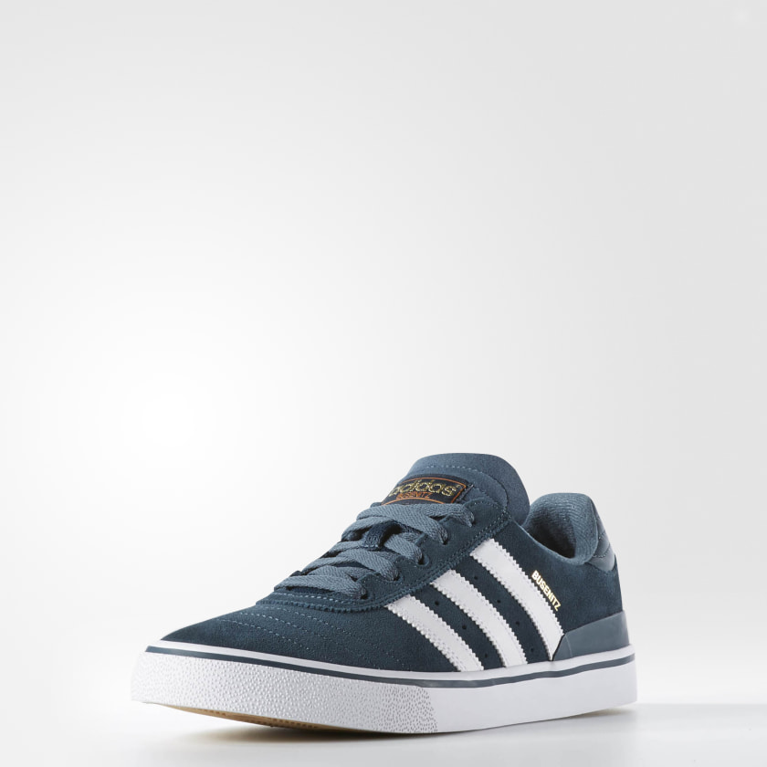 adidas Tenis para Skateboarding Busenitz Vulc - Azul  b363817af4d41