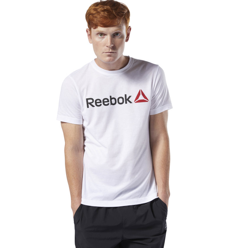 Reebok-Men-039-s-Linear-Read-Tee thumbnail 2