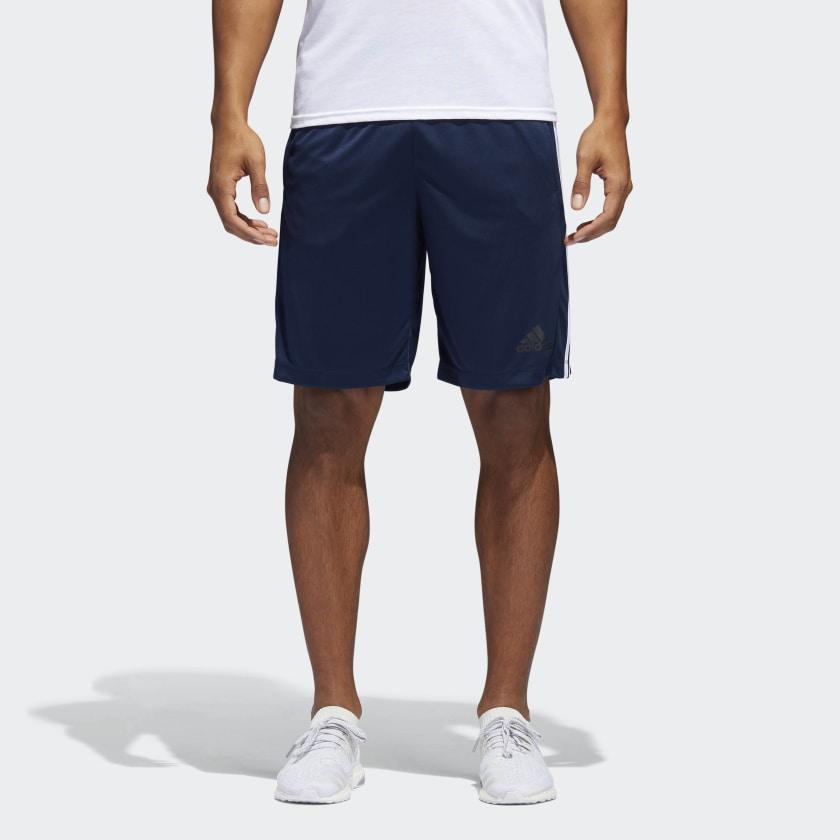 adidas-D2M-3-Stripes-Shorts-Men-039-s thumbnail 27