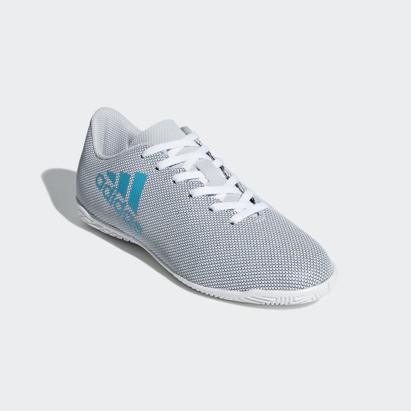 Chuteira X 17.4 Futsal Infantil - Branco adidas  dbcdd1a2616ca