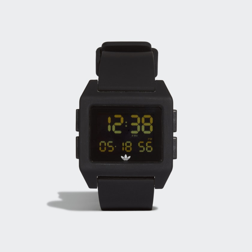 Adidas 40mm Archive Digital Silicone Strap Watch
