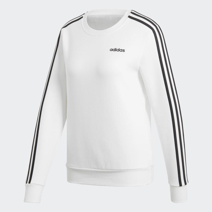 adidas-Essentials-3-Stripes-Sweatshirt-Women-039-s thumbnail 49