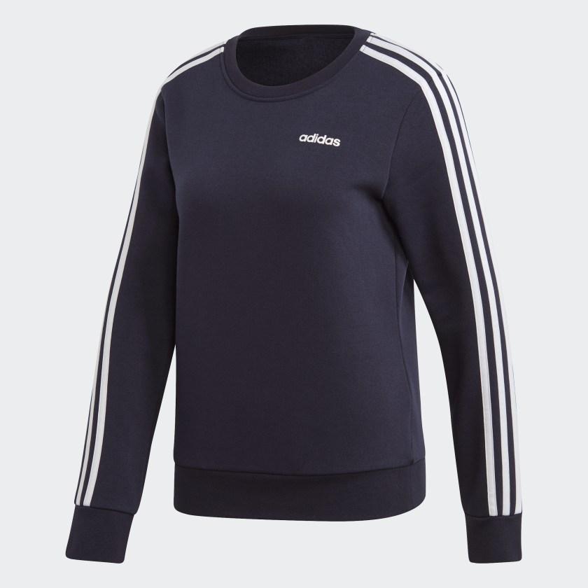 adidas-Essentials-3-Stripes-Sweatshirt-Women-039-s thumbnail 34