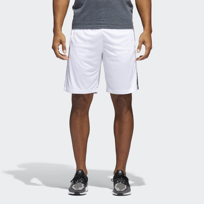 adidas-D2M-3-Stripes-Shorts-Men-039-s thumbnail 19