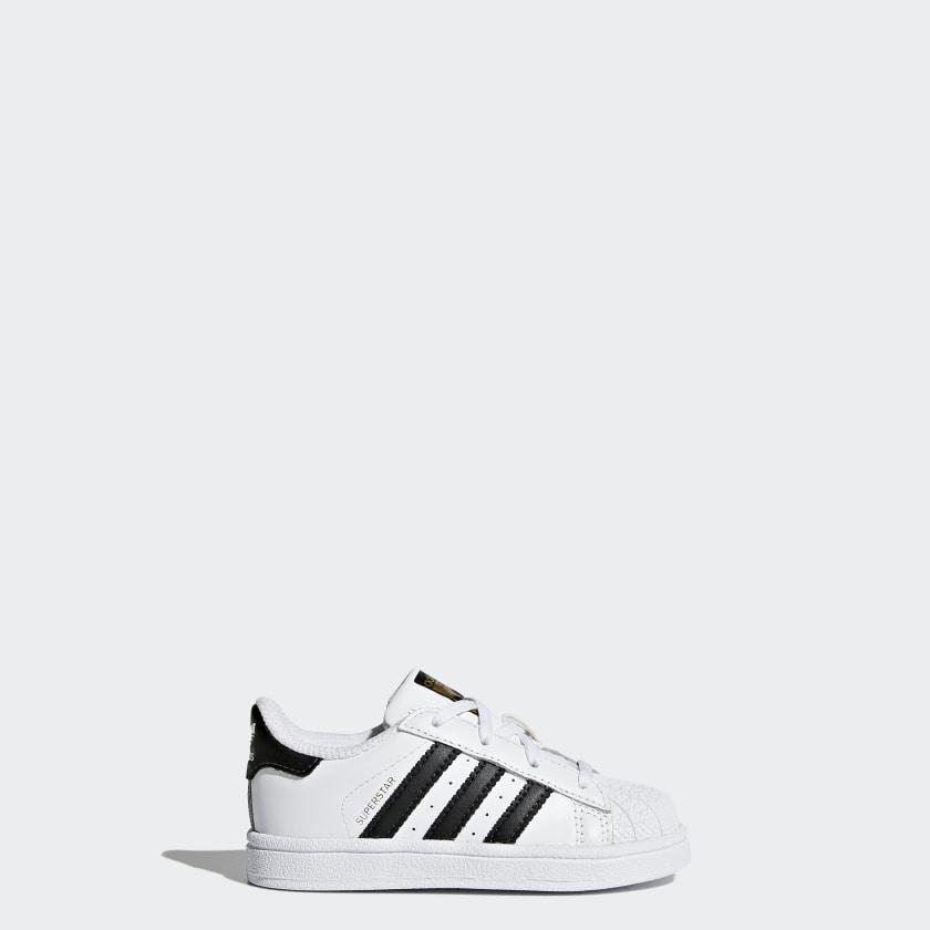 Adidas Superstar I 1 C77913 White Black Toddler Girls Boys Size 10 10k Shelltoes