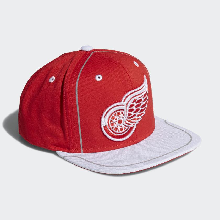 Red Wings Flat Brim Hat