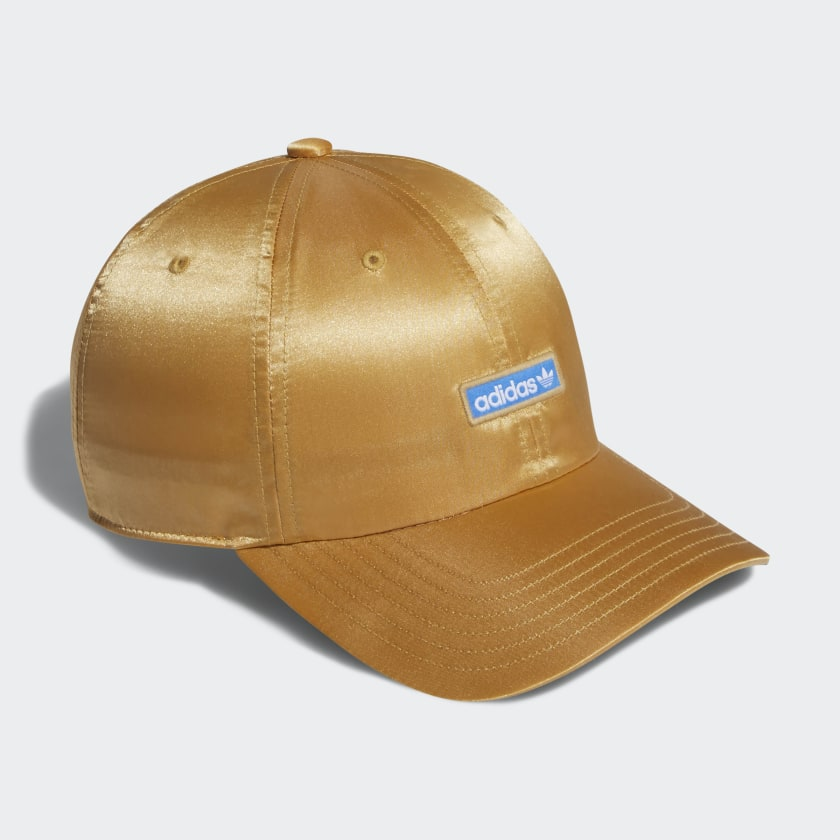 Metallic Relaxed Strap-Back Hat