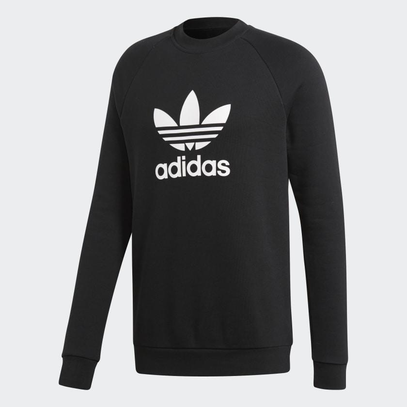 Adidas Authentic Logo Crew Sweatshirt Grau Männer